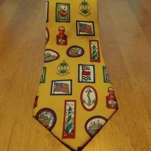 Chaps Ralph Lauren silk Tie Ships
